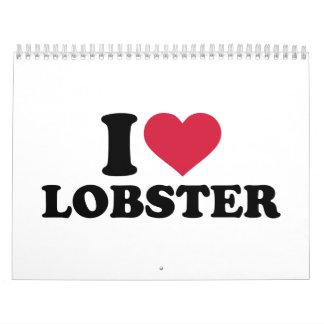 I love Lobster Calendar