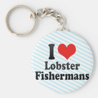 I Love Lobster Fishermans Key Chains