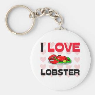 I Love Lobster Keychain