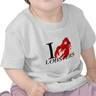 I Love Lobsters Baby's T Shirts