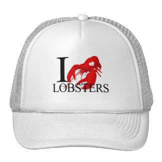 I Love Lobsters Caps Trucker Hat