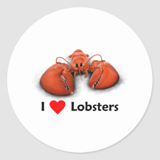 I love Lobsters Classic Round Sticker