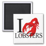 I Love Lobsters Magnets