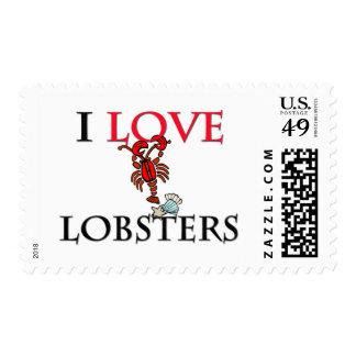 I Love Lobsters Postage