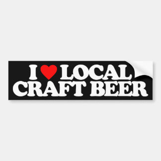 I LOVE LOCAL CRAFT BEER BUMPER STICKER