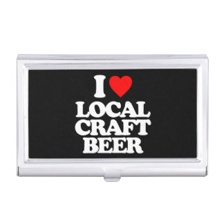 I LOVE LOCAL CRAFT BEER BUSINESS CARD CASE