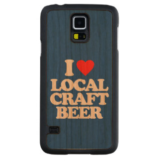 I LOVE LOCAL CRAFT BEER CARVED CHERRY GALAXY S5 CASE
