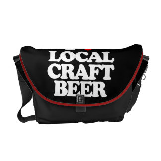 I LOVE LOCAL CRAFT BEER COURIER BAGS