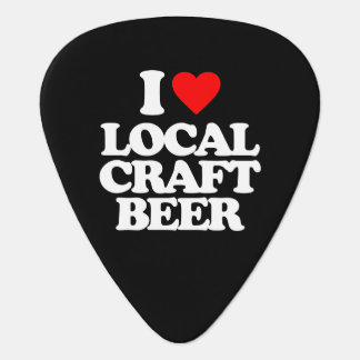 I LOVE LOCAL CRAFT BEER GUITAR PICK