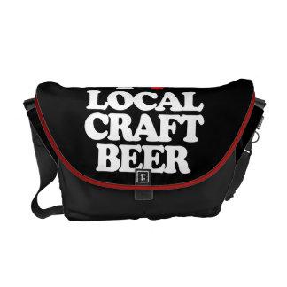 I LOVE LOCAL CRAFT BEER MESSENGER BAG