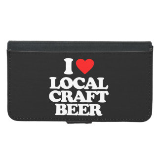 I LOVE LOCAL CRAFT BEER WALLET PHONE CASE FOR SAMSUNG GALAXY S5