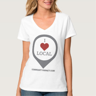 I Love Local map marker tee