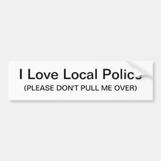 I Love Local Police Sticker