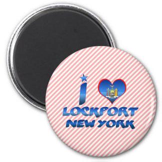 I love Lockport, New York 2 Inch Round Magnet