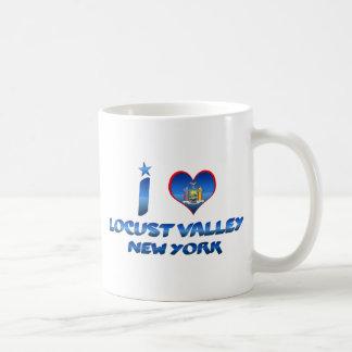 I love Locust Valley, New York Classic White Coffee Mug