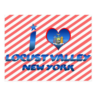 I love Locust Valley, New York Postcard