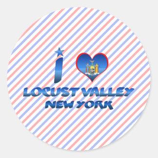 I love Locust Valley, New York Classic Round Sticker