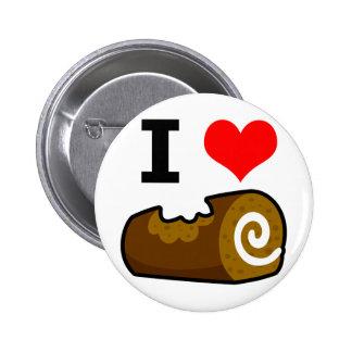 I Love Log 2 Inch Round Button