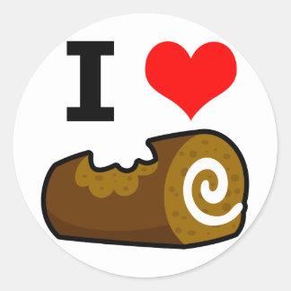 I Love Log Classic Round Sticker