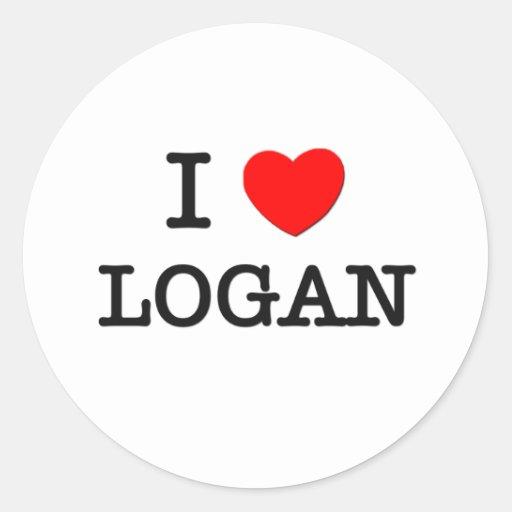 I Love Logan Classic Round Sticker
