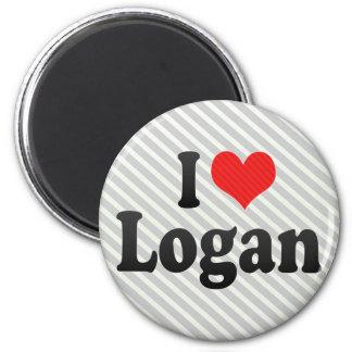 I Love Logan Magnet