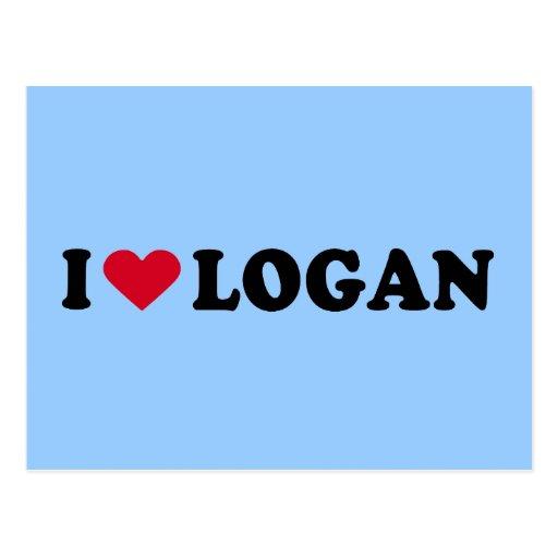 I LOVE LOGAN POSTCARD