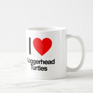 i love loggerhead turtles mugs