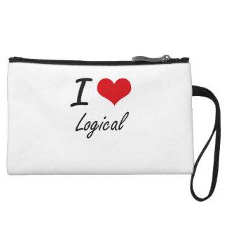 I Love Logical Wristlet Purses