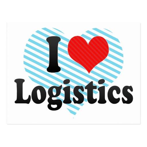 I Love Logistics Postcard