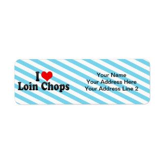 I Love Loin Chops Custom Return Address Labels