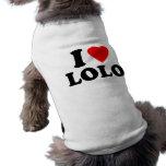 I Love Lolo Dog T Shirt