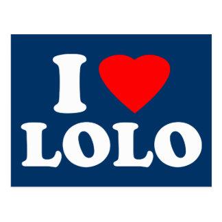 I Love Lolo Postcard