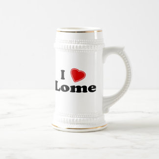I Love Lome Beer Stein