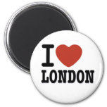 I LOVE LONDON 2 INCH ROUND MAGNET