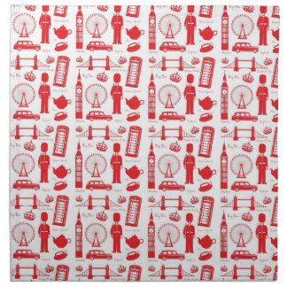 I Love London - British Symbols Napkin