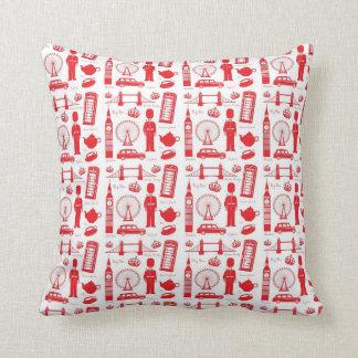 I Love London - British Symbols Pillow