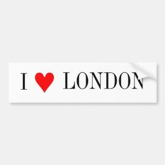 I love London Car Bumper Sticker