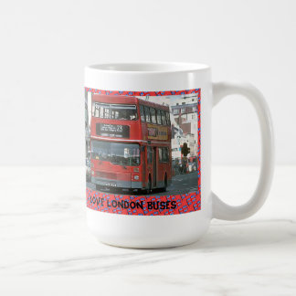 I love London buses Classic White Coffee Mug