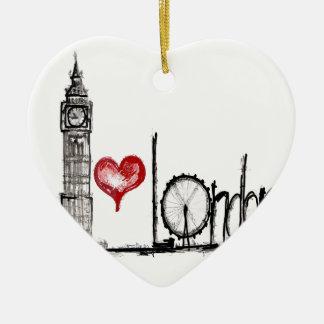 I Love London Ceramic Ornament