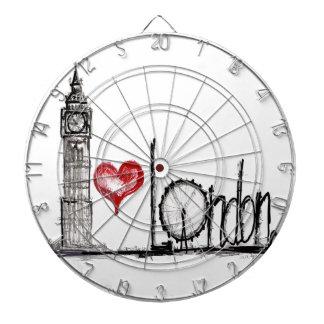 I Love London Dartboard With Darts