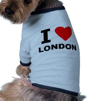 I Love London Dog T Shirt