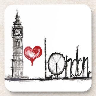 I Love London Drink Coaster