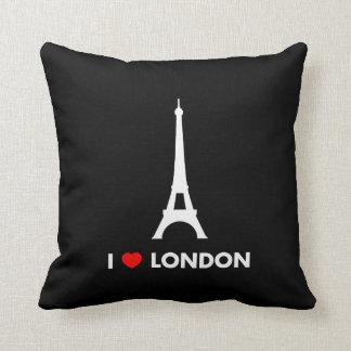 I Love London - Eiffel Tower Pillow