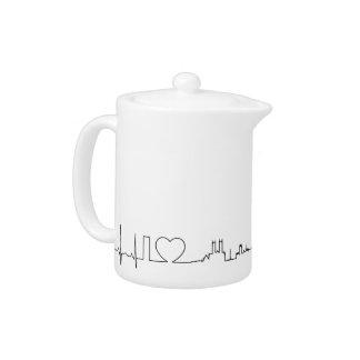 I love London (extraordinary ecg style) souvenir Teapot