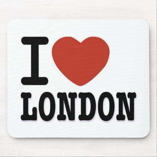 I LOVE LONDON MOUSE PAD