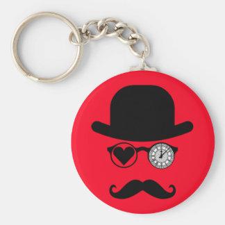 I Love London Mustache Big Ben Keychain
