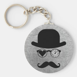 I Love London Mustache Keychain