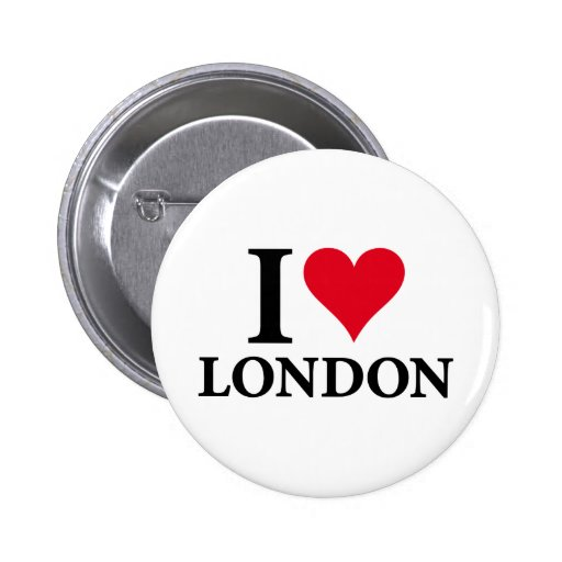 I LOVE LONDON on white.png 2 Inch Round Button