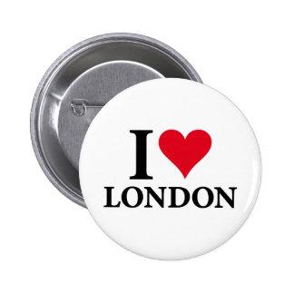 I LOVE LONDON on white.png Pin Redondo De 2 Pulgadas