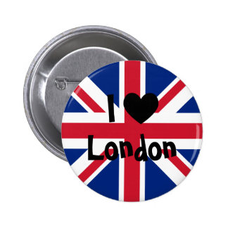 I Love London Pinback Button
